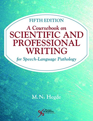 A coursebook on scientific and professional writing for speech-language pathology /