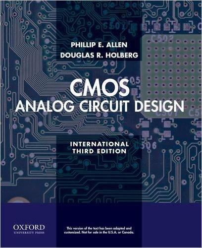 CMOS analog circuit design /