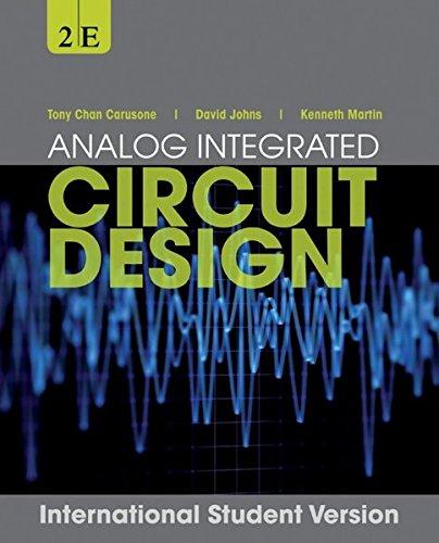 Analog integrated circuit design /
